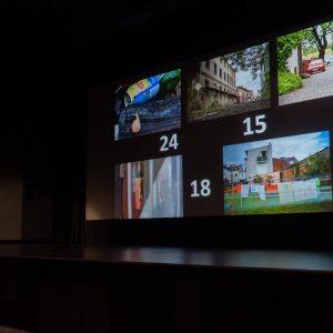 Na ekranie wyświetlone są obok siebie nagrodzone zdjęcia FotoBitwy: numer 24, 15, 12, poniżej 18 oraz 6.