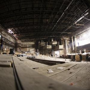 Główna sala kinowa. Widok z podłogi.