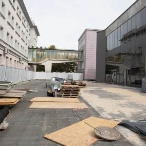 Plac budowy - teren przy Oskardzie.