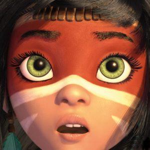 Fragment plakat do filmu Aingo, strażniczka Amazonii