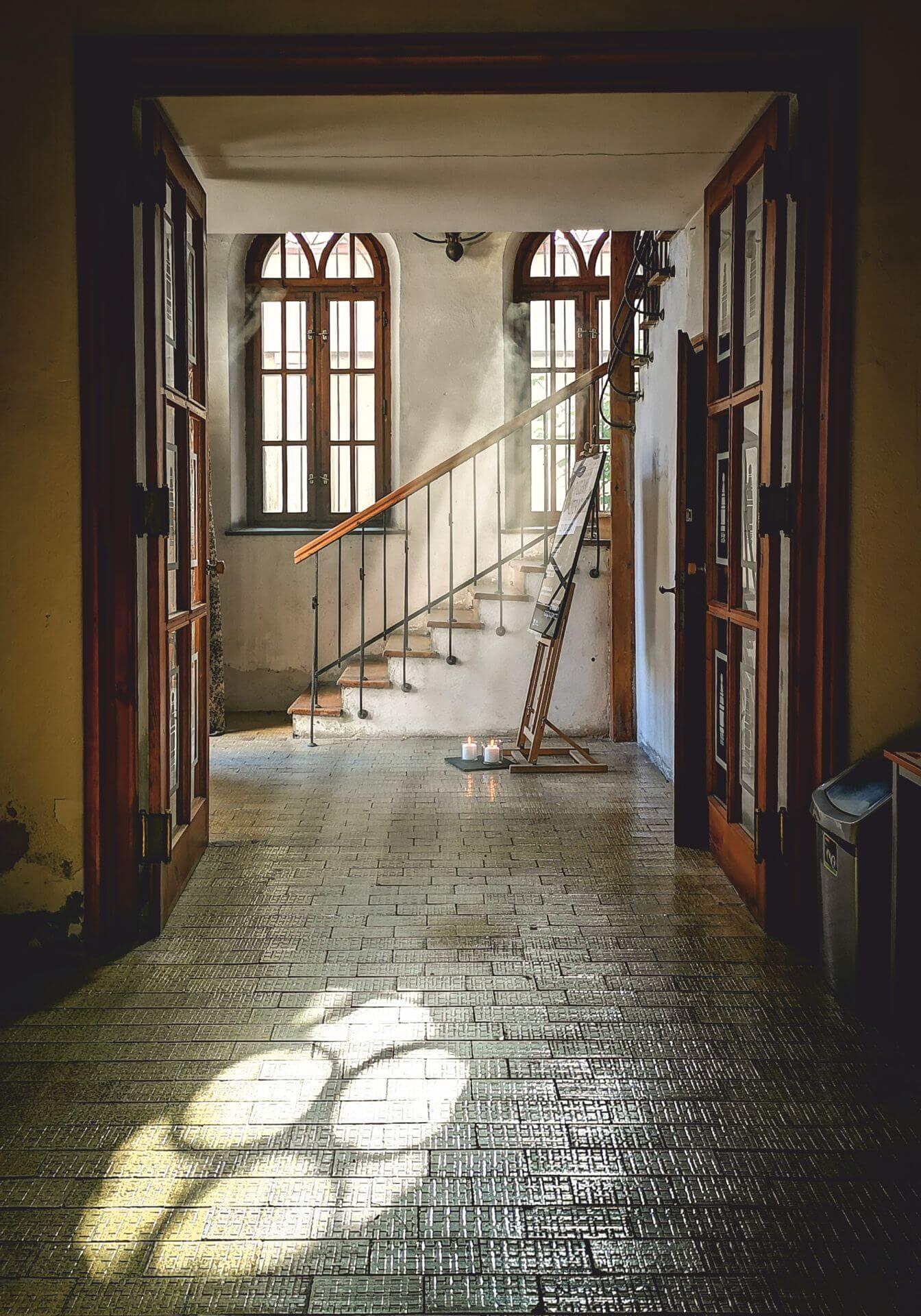 Zdjęcie wnętrza synagogi wykonane przez Annę Małkowicz.
