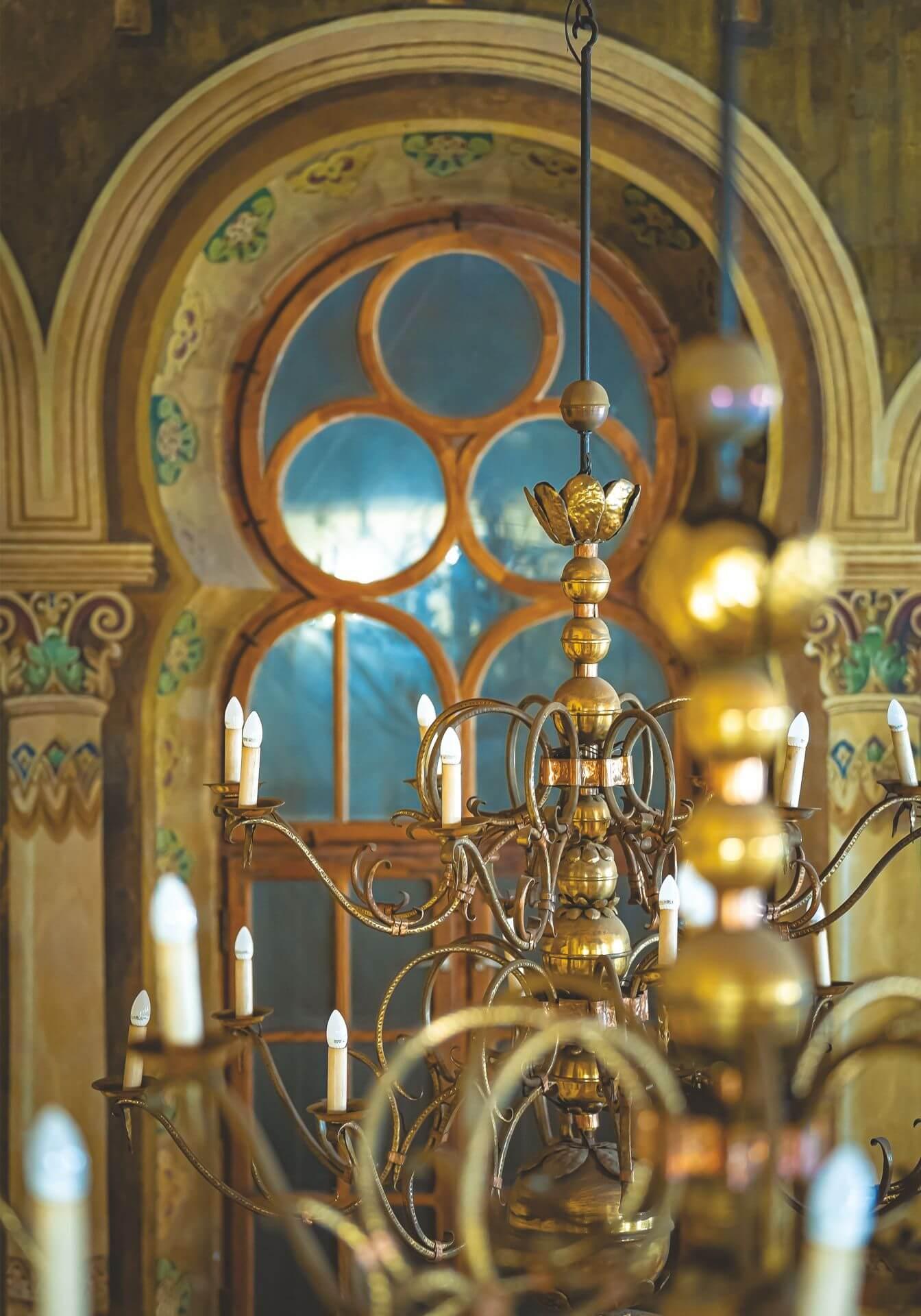 Zdjęcie wnętrza synagogi wykonane przez Arkadiusza Uriasza.