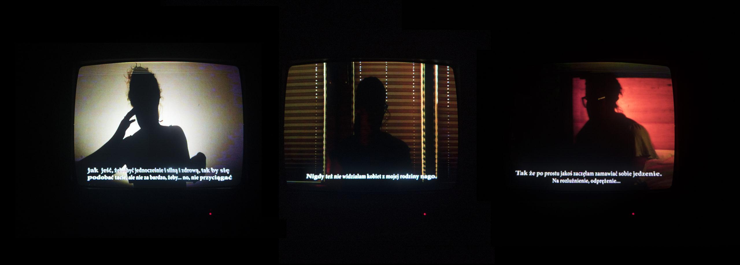 Na zdjęciu trzy ekranu z trzema osobami
