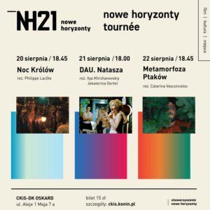 Grafika ze zdjęciami do projektu Nowe Horyzonty Tournee