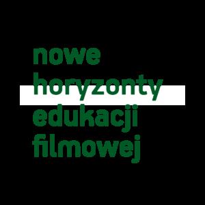"""Napis """"nowe horyzonty edukacji filmowej"""""""