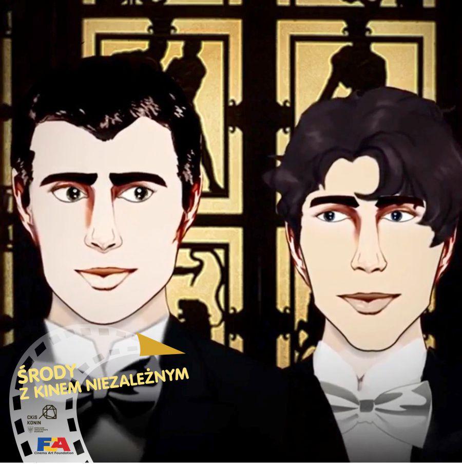 Grafika przedstawia dwie męskie twarze i logo wydarzenia