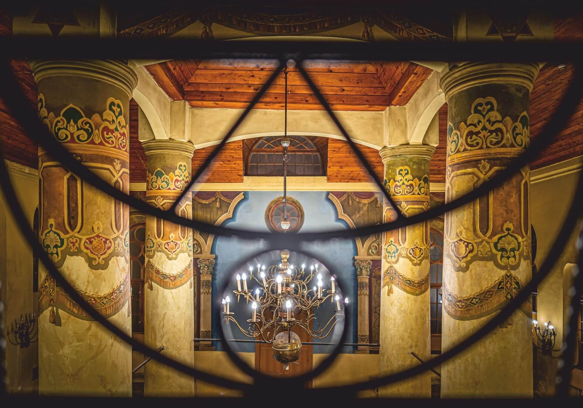 Zdjęcie wnętrza Synagogi wykonane przez Tomasza Kulasa.