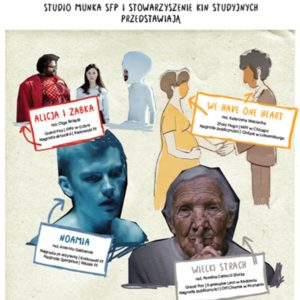 Kilka postaci graficzny i osób wyciętych ze zdjęć