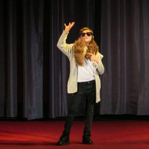 Na zdjęciu uczestniczka Wielkopolskiego Konkurs na Monodram