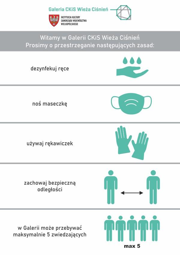 graficzna informacja o obostrzeniach związanych z covid-19